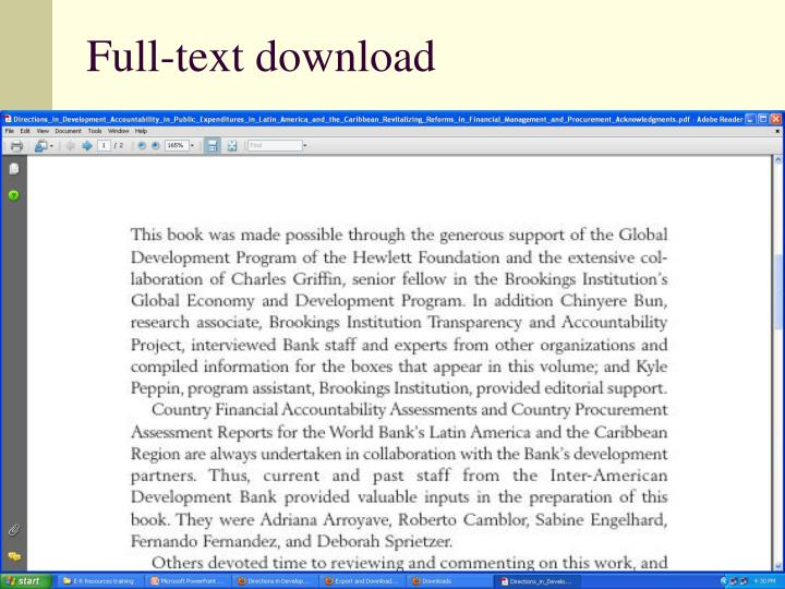 Full-text download