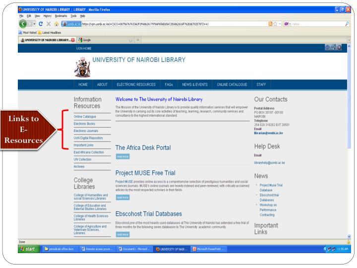 Links to E-Resources