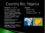 country bio nigeria