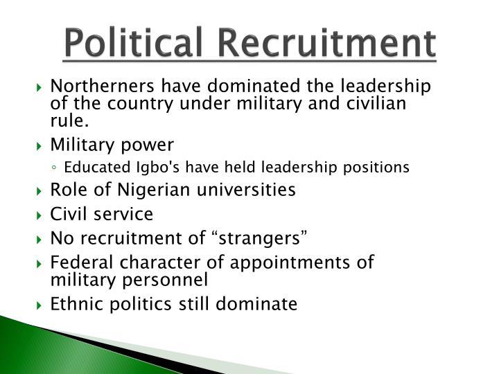 Political Recruitment