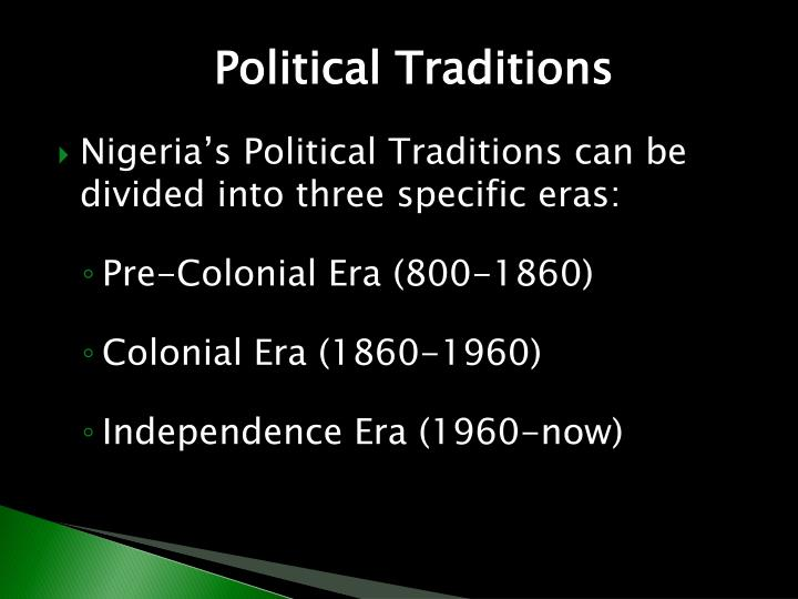 Political Traditions