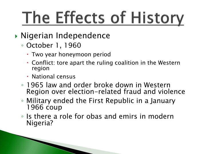 The Effects of History