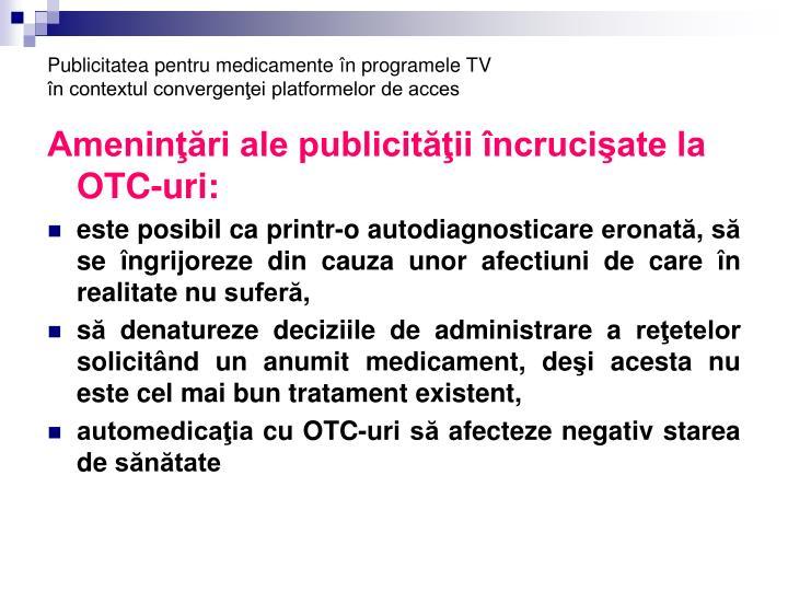 Publicitatea pentru medicamente în programele TV