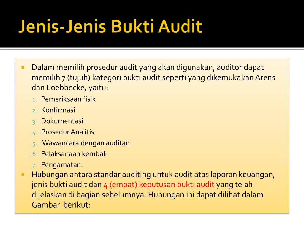 Ppt Bukti Audit Prosedur Audit Dan Temuan Audit Powerpoint Presentation Id 4481416