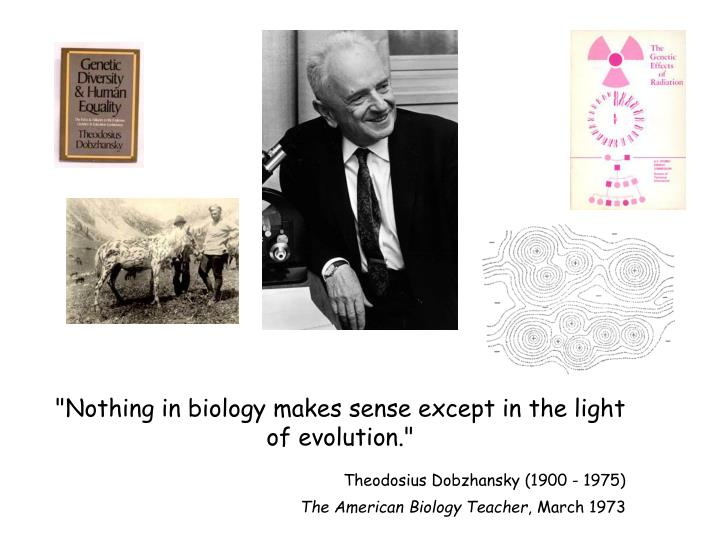 """Nothing in biology makes sense except in the light of evolution."""
