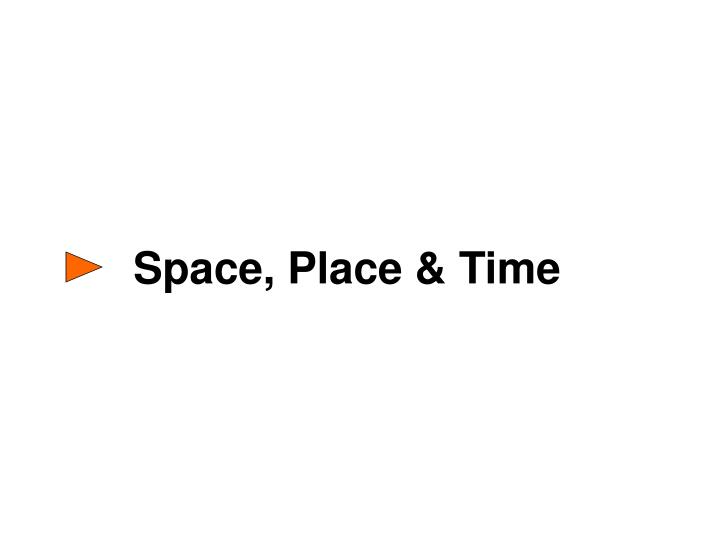 Space, Place & Time