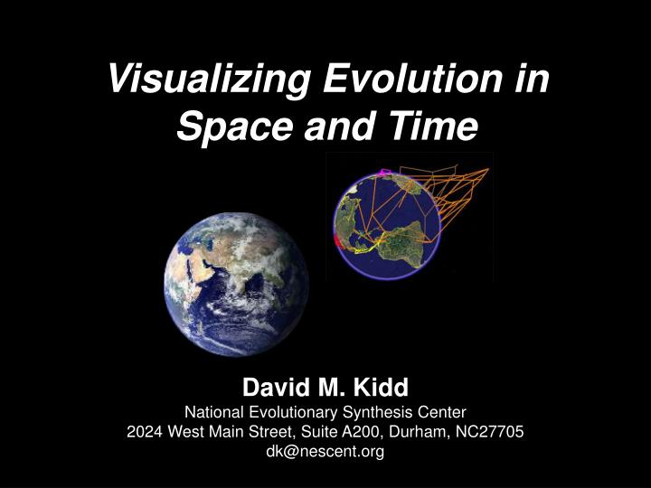 Visualizing evolution in space and time