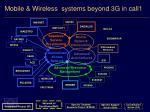 mobile wireless systems beyond 3g in call1