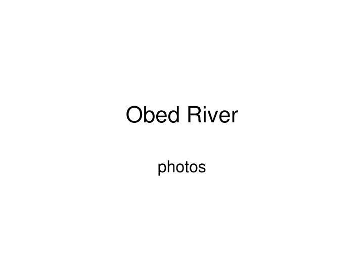 Obed river