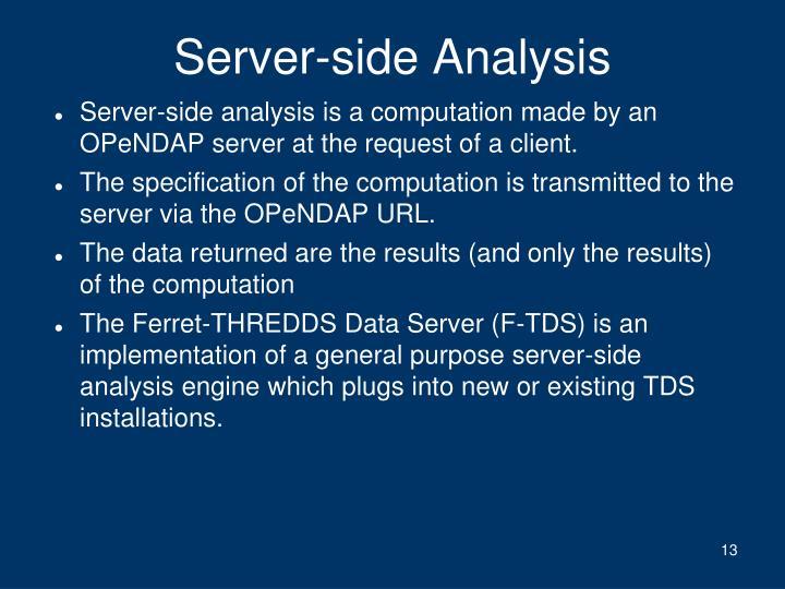 Server-side Analysis