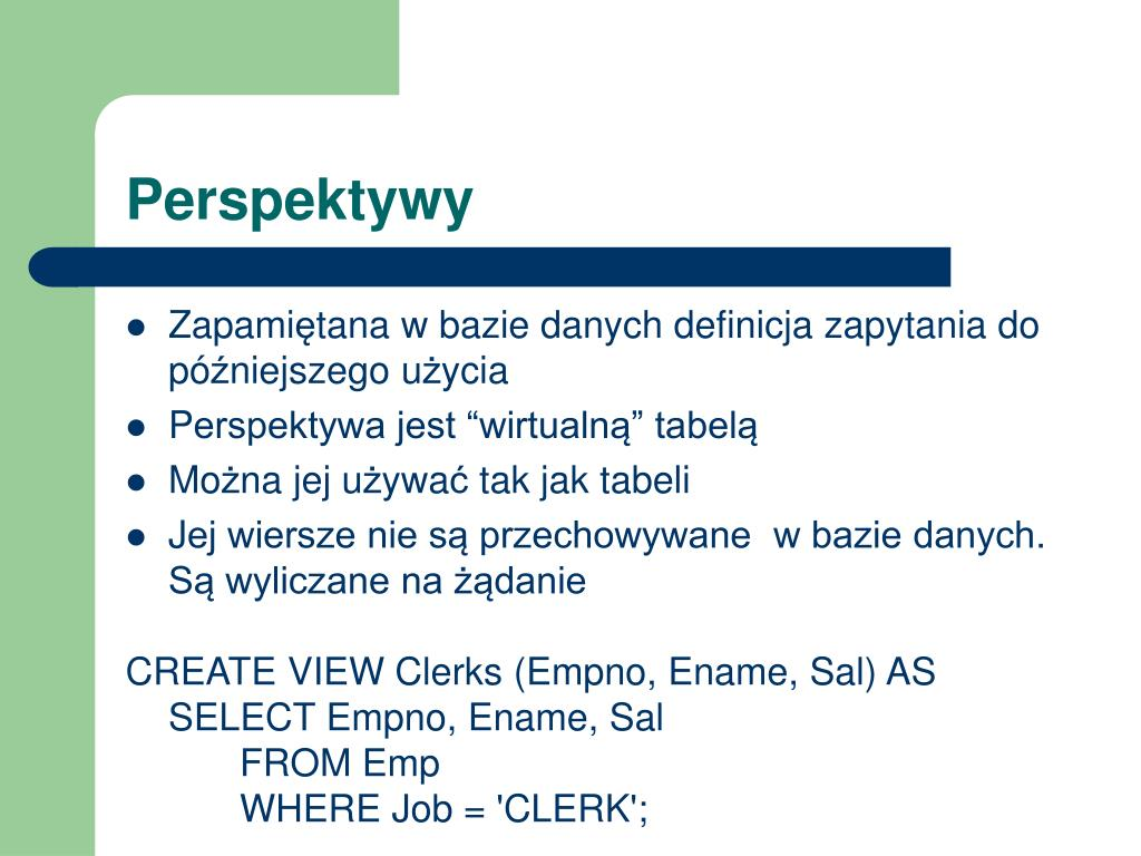 Ppt Bazy Danych Powerpoint Presentation Free Download
