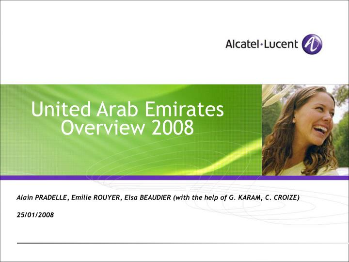 united arab emirates overview 2008 n.