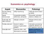 economics vs psychology