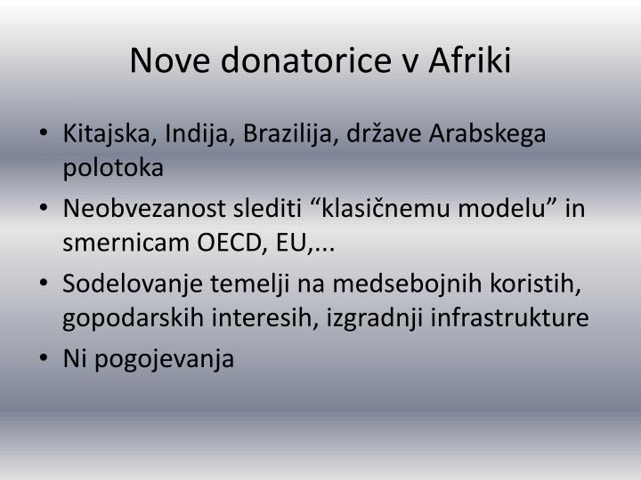 Nove donatorice v Afriki