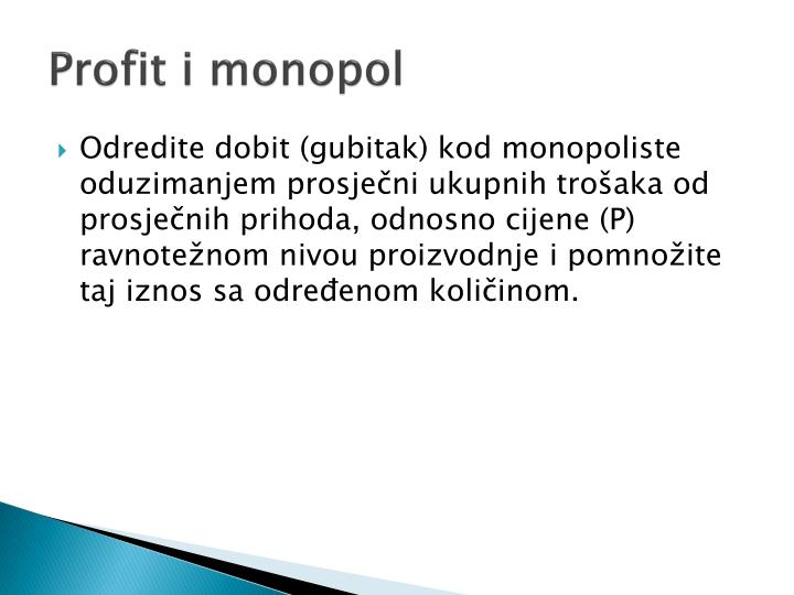 Profit i monopol