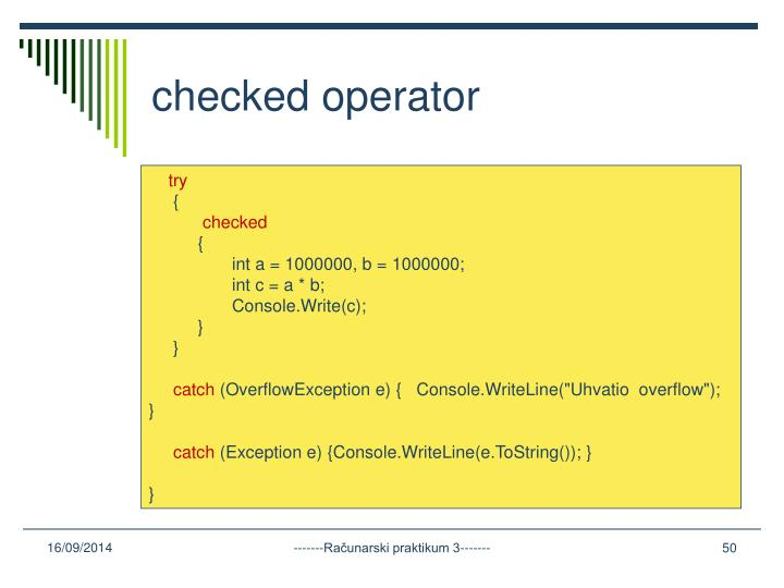 checked operator
