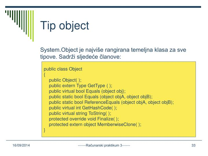 Tip object