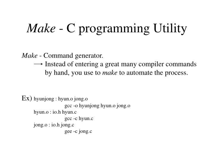 Make c programming utility