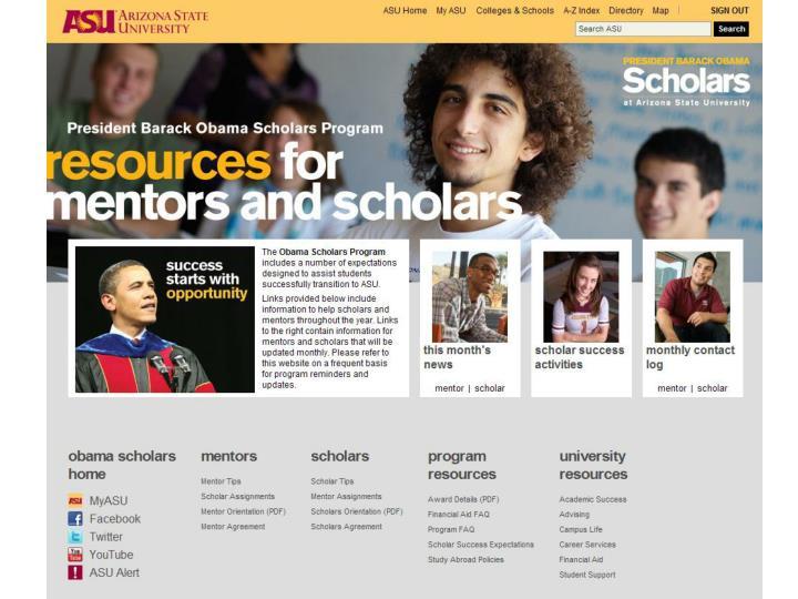 Insert homepage screen shot