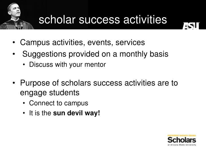 scholar success activities
