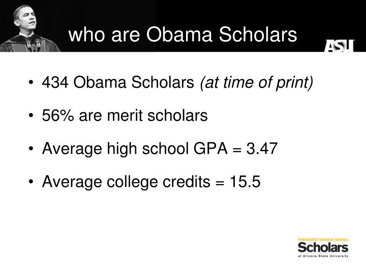 who are Obama Scholars