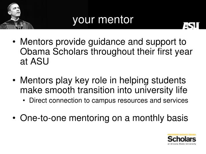 your mentor