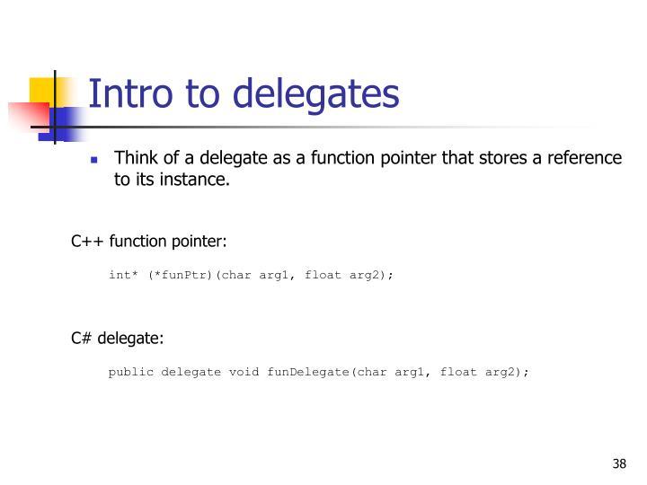 Intro to delegates