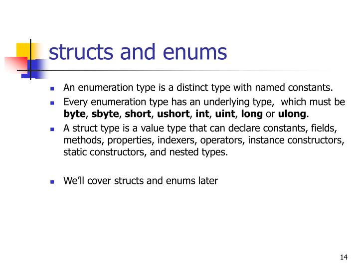 structs and enums
