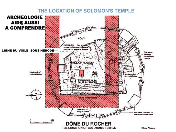 THE LOCATION OF SOLOMON'S TEMPLE