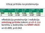 uticaj pritiska na proteinuriju