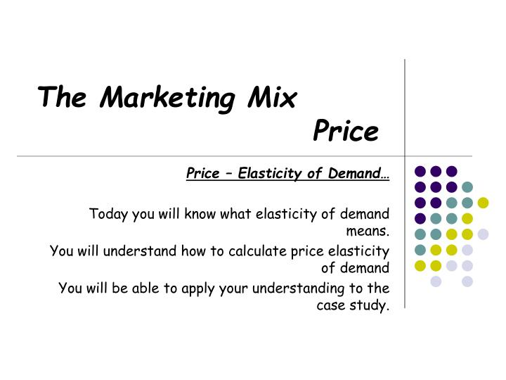 Ppt The Marketing Mix Price Powerpoint Presentation Free