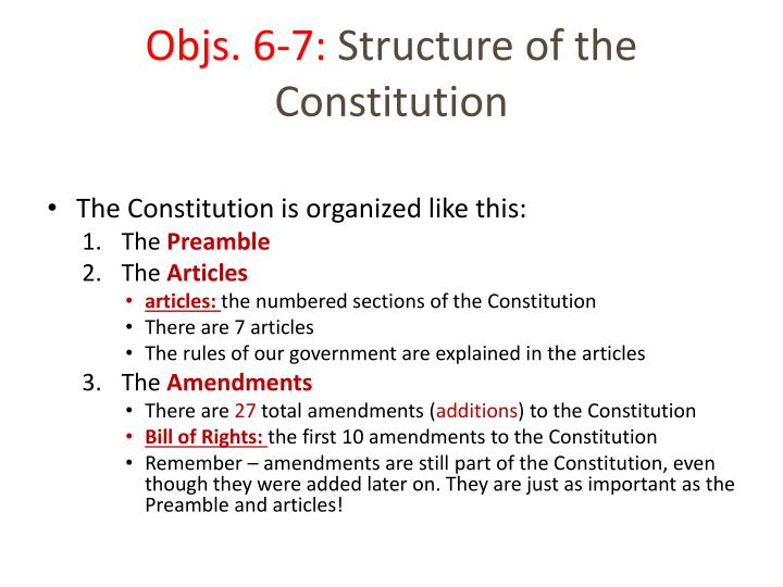 objs 6 7 structure of the constitution n.