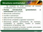 structura contractului