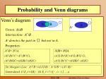 probability and venn diagrams
