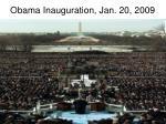 obama inauguration jan 20 2009