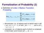 formalization of probability 2