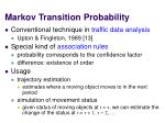 markov transition probability