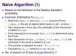 na ve algorithm 1