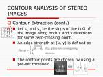 contour analysis of stereo images1