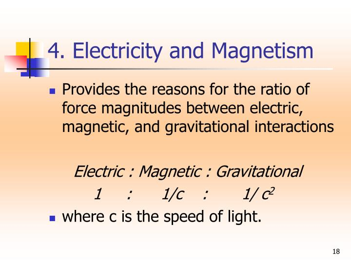 4. Electricity and Magnetism