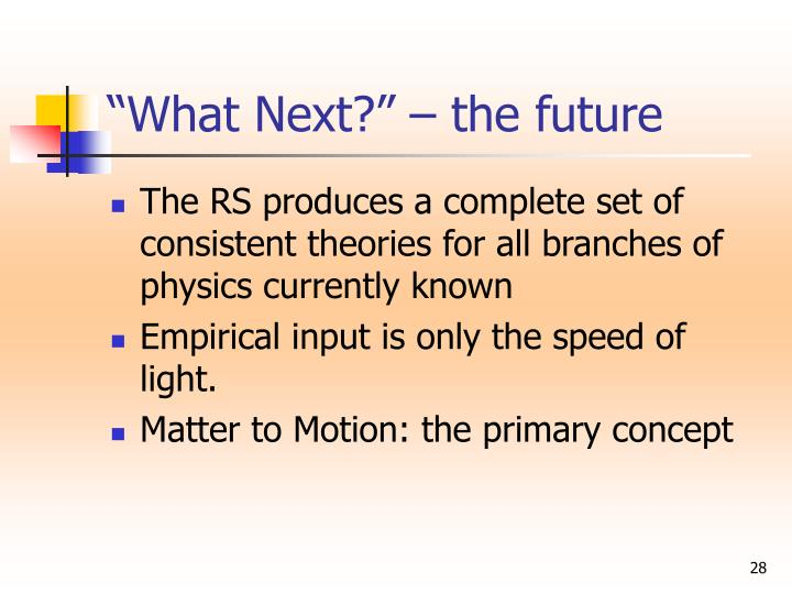 """""""What Next?"""" – the future"""