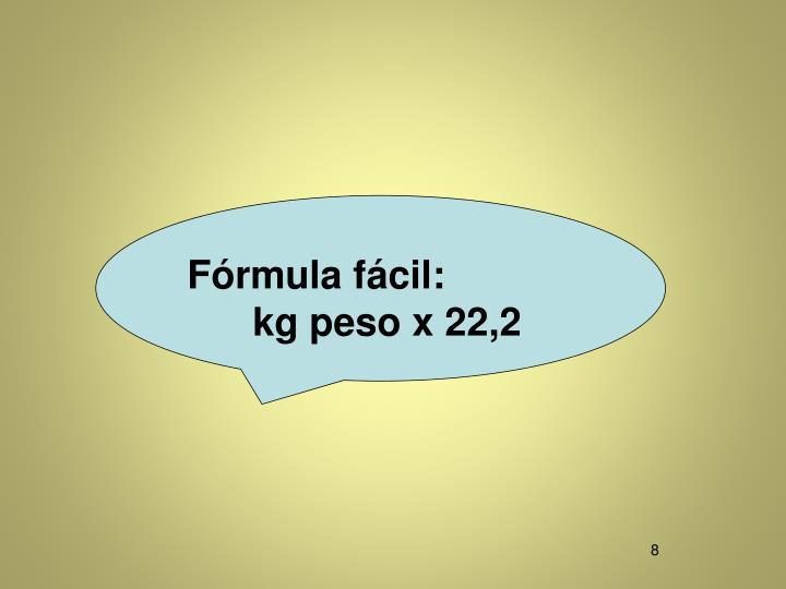 Fórmula fácil: