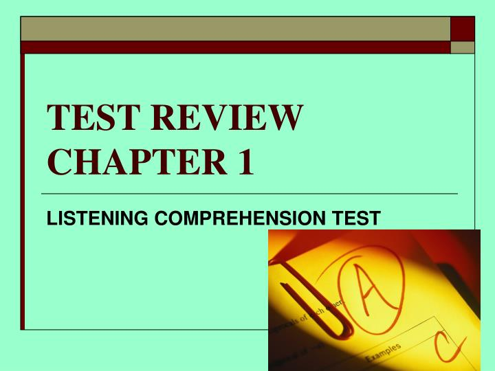 test review chapter 1 n.