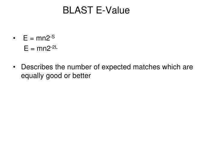 BLAST E-Value