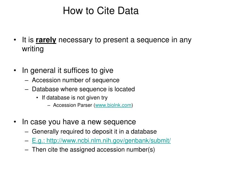 How to Cite Data