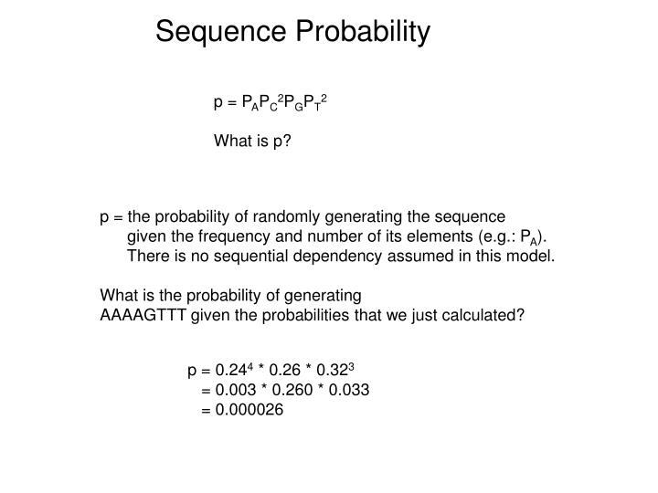 Sequence Probability
