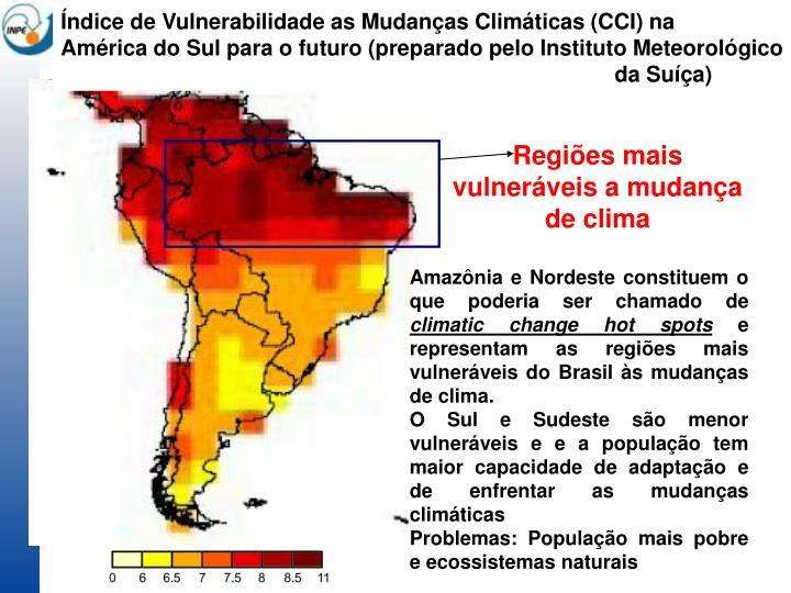 Índice de Vulnerabilidade as Mudanças Climáticas (CCI) na