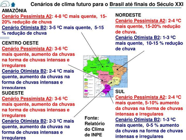 Cenários de clima futuro para o Brasil até finais do Século XXI
