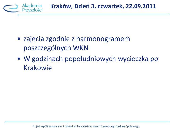 Kraków, Dzień 3. czwartek, 22.09.2011