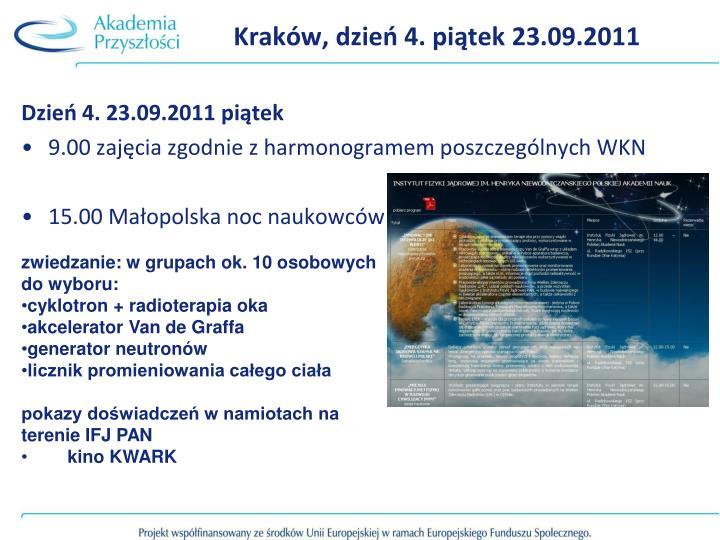 Kraków, dzień 4. piątek 23.09.2011
